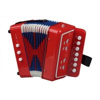 *NCT 0055 MUZIEKINSTRUMENTEN accordeon rood